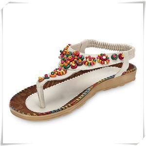 Boho thong beaded sandals NWOT